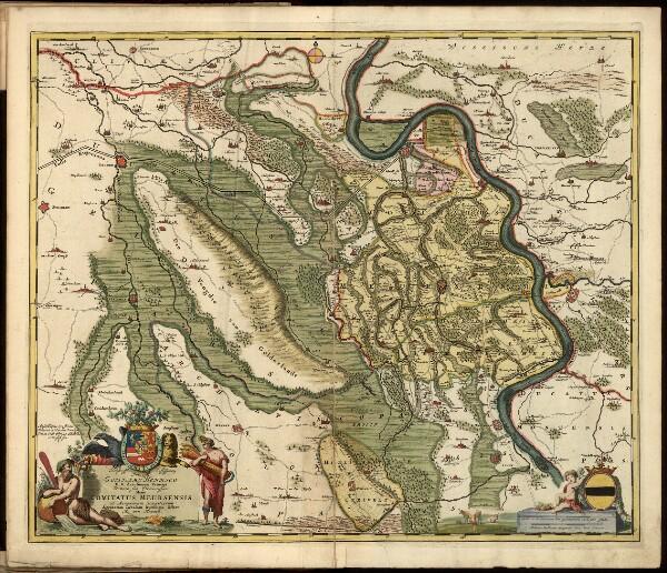 Atlas minor Sive totius orbis terrarum contracta delinea[ta] ex conatibus, mapa ze strany: [27]